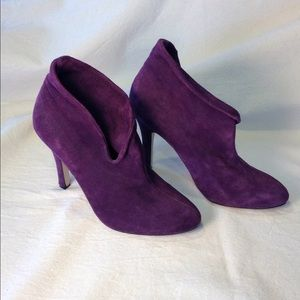 Forever Twenty One Purple Suede Heels